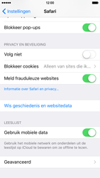 Apple iPhone 6 met iOS 9 (Model A1586) - Privacy - Cookies en geschiedenis wissen - Stap 4