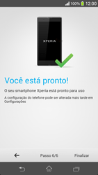Sony C5303 Xperia SP - Primeiros passos - Como ativar seu aparelho - Etapa 11