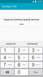 Samsung Galaxy S5 - Segurança - Como ativar o código de bloqueio do ecrã -  8