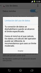 Sony Xperia Z1 - Internet - Ver uso de datos - Paso 9
