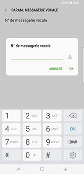 Samsung Galaxy S8 Plus - Messagerie vocale - Configuration manuelle - Étape 8