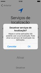 Apple iPhone 5s iOS 9 - Primeiros passos - Como ligar o telemóvel pela primeira vez -  12