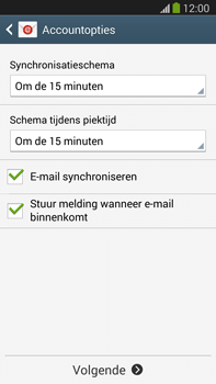 Samsung N9005 Galaxy Note III LTE - E-mail - Account instellen (IMAP zonder SMTP-verificatie) - Stap 17