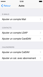 Apple iPhone 5c iOS 8 - E-mail - Configuration manuelle - Étape 6