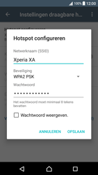 Sony Xperia XA - Android Nougat - WiFi - Mobiele hotspot instellen - Stap 9