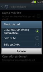 Samsung Galaxy S3 Mini - Red - Seleccionar el tipo de red - Paso 7