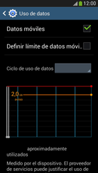 Samsung Galaxy S4 Mini - Internet - Ver uso de datos - Paso 5