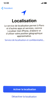Apple iPhone XS - iOS 12 - Premiers pas - Configuration de l