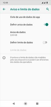 Motorola Moto G7 - Rede móvel - Como definir um aviso e limite de uso de dados - Etapa 9