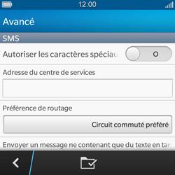BlackBerry Q5 - SMS - configuration manuelle - Étape 10