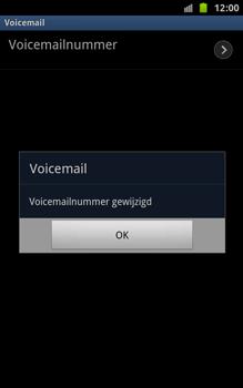Samsung N7000 Galaxy Note - Voicemail - Handmatig instellen - Stap 8
