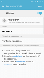 Samsung Galaxy S7 Edge - Wi-Fi - Como usar seu aparelho como um roteador de rede wi-fi - Etapa 12