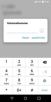 LG Q6 (LG M700n) - Voicemail - Handmatig instellen - Stap 8