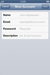 Apple iPhone 4 S iOS 6 - Email - Manual configuration - Step 7