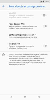 Nokia 7 Plus - Internet et connexion - Partager votre connexion en Wi-Fi - Étape 9
