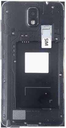 Samsung Galaxy Note 3 - Primeros pasos - Quitar y colocar la batería - Paso 4