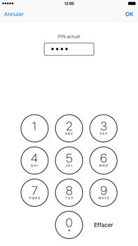 Apple iPhone 6s Plus - Sécuriser votre mobile - Personnaliser le code PIN de votre carte SIM - Étape 7