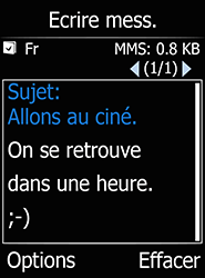 Doro 6520 - Contact, Appels, SMS/MMS - Envoyer un MMS - Étape 11