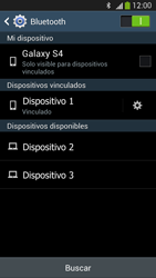 Samsung Galaxy S4 - Bluetooth - Conectar dispositivos a través de Bluetooth - Paso 8