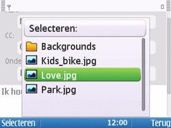 Nokia E5-00 - E-mail - hoe te versturen - Stap 12