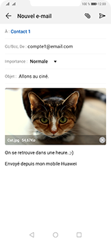 Huawei Mate 20 Pro - E-mail - envoyer un e-mail - Étape 14