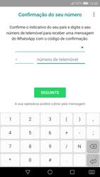 Huawei P10 - Aplicações - Como configurar o WhatsApp -  9