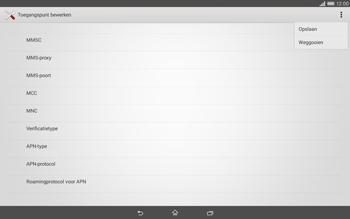 Sony Xperia Tablet Z2 (SGP521) - MMS - handmatig instellen - Stap 15