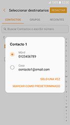 Samsung Galaxy A3 (2017) (A320) - Mensajería - Escribir y enviar un mensaje multimedia - Paso 6