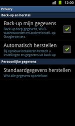 Samsung I9100 Galaxy S II - Instellingen aanpassen - Fabrieksinstellingen terugzetten - Stap 5