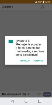 LG Q6 - Mensajería - Escribir y enviar un mensaje multimedia - Paso 12