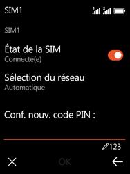 Nokia 3310 - Sécuriser votre mobile - Personnaliser le code PIN de votre carte SIM - Étape 12