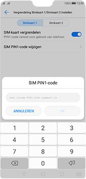 Huawei P20 Pro Dual-SIM (Model CLT-L29) - Beveiliging en ouderlijk toezicht - Hoe wijzig ik mijn SIM PIN-code - Stap 12