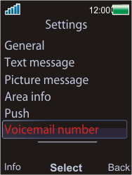 Sony W595 - Voicemail - Manual configuration - Step 5