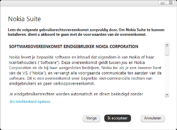Nokia 216 - Software - PC-software installeren - Stap 4