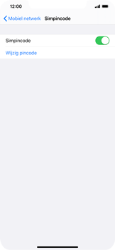 Apple iphone-xs-max-met-ios-13-model-a1921 - Beveiliging en ouderlijk toezicht - Hoe wijzig ik mijn SIM PIN-code - Stap 5
