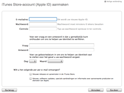 Apple iPhone 3G S - Applicaties - Account aanmaken - Stap 7