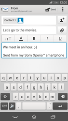 Sony E2003 Xperia E4 G - Email - Sending an email message - Step 10
