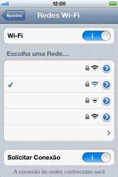Apple iPhone iOS 5 - Wi-Fi - Como configurar uma rede wi fi - Etapa 7