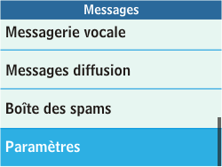 Samsung C3500 Chat 350 - E-mail - Configuration manuelle - Étape 4