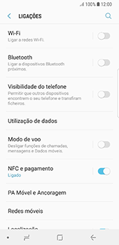 Samsung Galaxy S8 - Android Oreo - Internet no telemóvel - Como ativar os dados móveis -  5