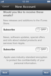 Apple iPhone 4 S - Applications - Create an account - Step 11