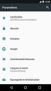 Motorola Moto E4 Plus - Aller plus loin - Restaurer les paramètres d'usines - Étape 4