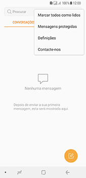 Samsung Galaxy A8 (2018) - SMS - Como configurar o centro de mensagens -  5