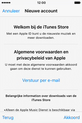 Apple iPhone 4S (iOS 9) - apps - account instellen - stap 10