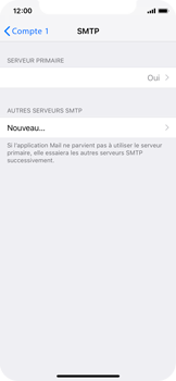 Apple iPhone XS - E-mail - Configuration manuelle - Étape 20