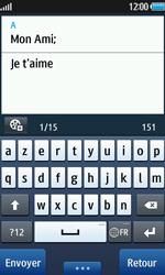 Samsung Wave 2 - Contact, Appels, SMS/MMS - Envoyer un SMS - Étape 9