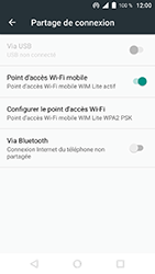 Wiko WIM Lite - Internet et connexion - Partager votre connexion en Wi-Fi - Étape 10