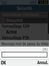 Samsung C3590 - Sécuriser votre mobile - Activer le code de verrouillage - Étape 7