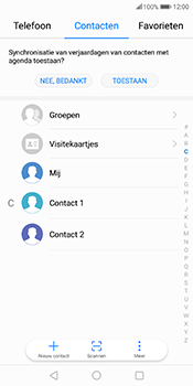 Huawei Mate 10 Pro - Contactgegevens overzetten - delen via Bluetooth - Stap 3