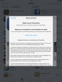 Apple iPad 2 met iOS 8 - Applicaties - Account aanmaken - Stap 9